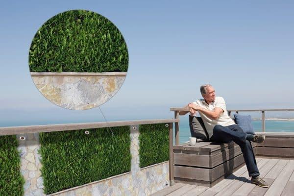 myfence Sichtschutz Alex Anwendung Terrasse