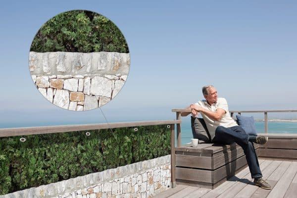 myfence Sichtschutz Olli Anwendung Terrasse