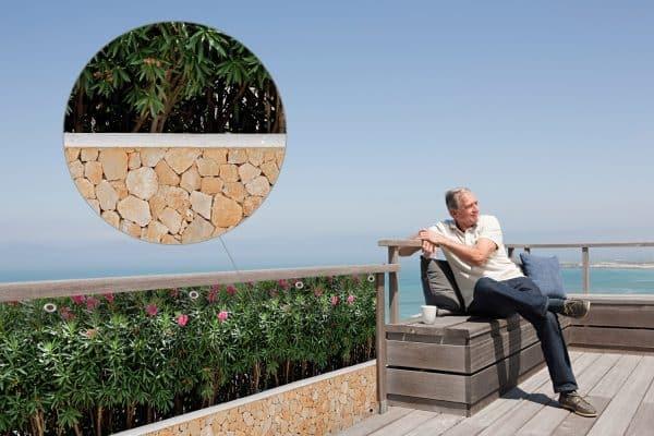 myfence Sichtschutz Rosaly Anwendung Terrasse