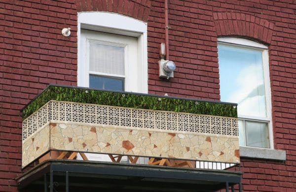 myfence Sichtschutz Rosetta Anwendung Balkon