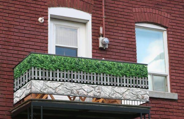 myfence Sichtschutz Symphonie Anwendung Balkon