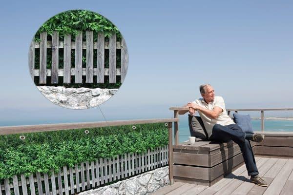 myfence Sichtschutz Symphonie Anwendung Terrasse