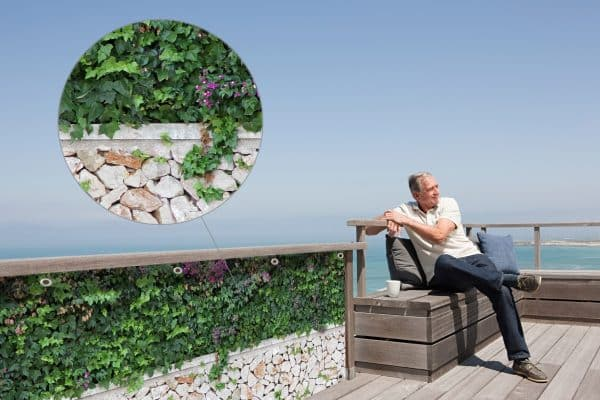 myfence Sichtschutz Wilma Anwendung Terrasse