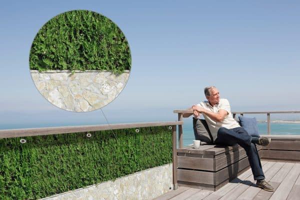 myfence Sichtschutz Zeno Anwendung Terrasse