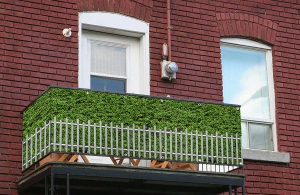 myfence Sichtschutz Edeltraud Anwendung Balkon