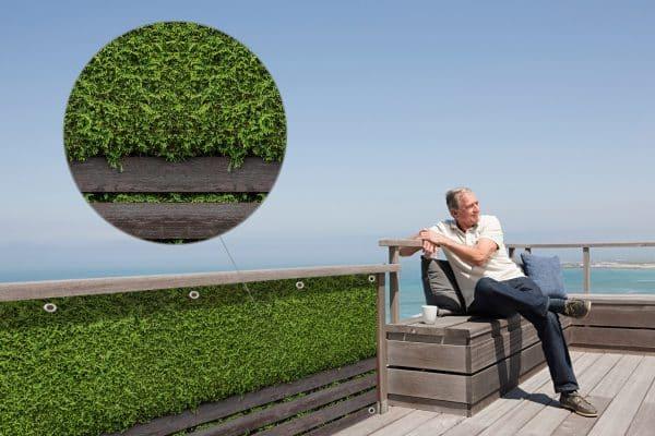 myfence Sichtschutz Hans Anwendung Terrasse