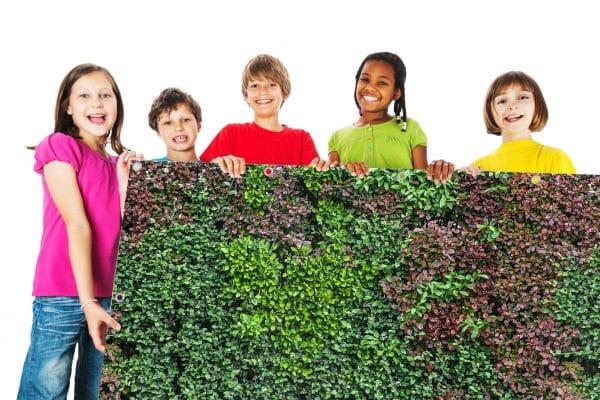 myfence Sichtschutz Mixi mit Kindern