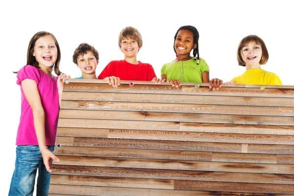 myfence Sichtschutz Ben mit Kindern