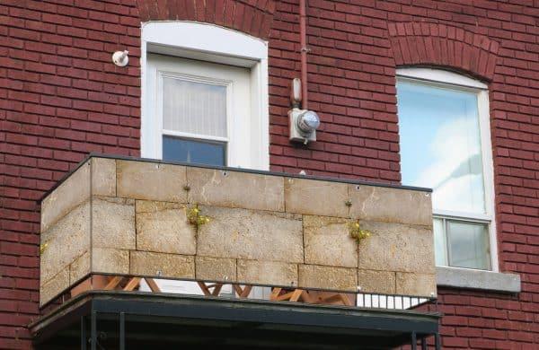 myfence Sichtschutz Sami Anwendung Balkon