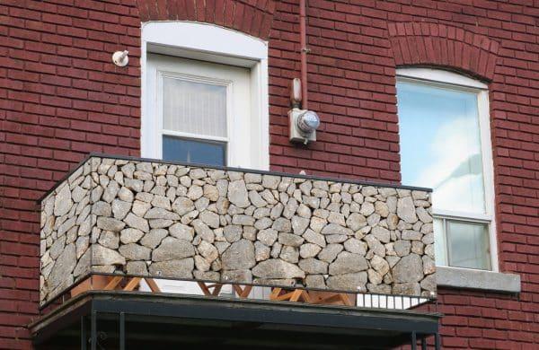 myfence Sichtschutz Gris Anwendung Balkon