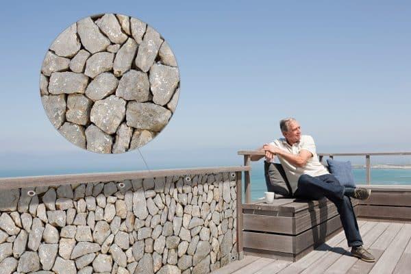 myfence Sichtschutz Gris Anwendung Terrasse