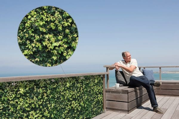 myfence Sichtschutz Koni Anwendung Terrasse
