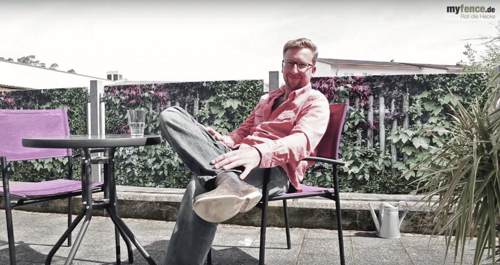 Video von myfence als Terrassensichtschutz