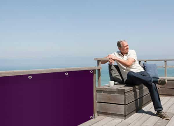 Sichtschutz Purpurviolett myfence Anwendung