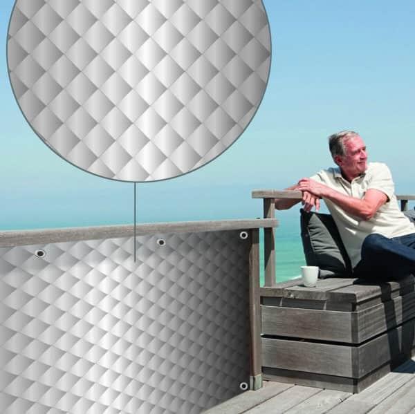 Sichtschutz Quirin grau myfence Anwendung