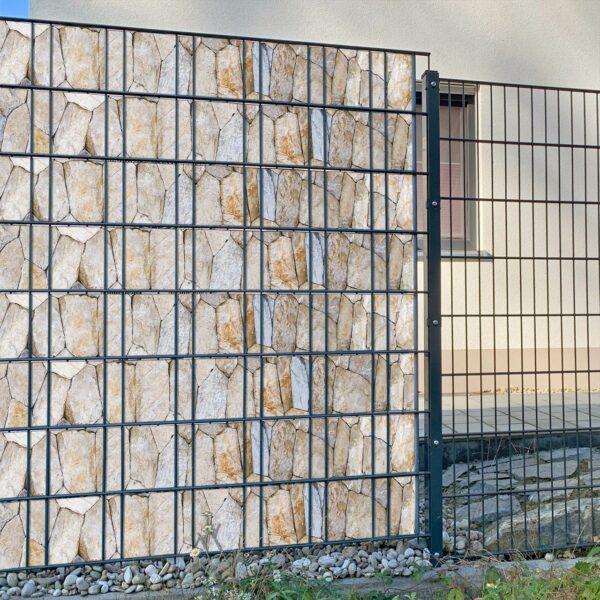 Manu steinig Sichtschutzstreifen myfence Anwendung