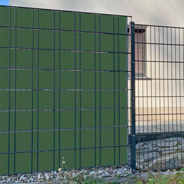 Olivgrün Sichtschutzstreifen myfence Anwendung