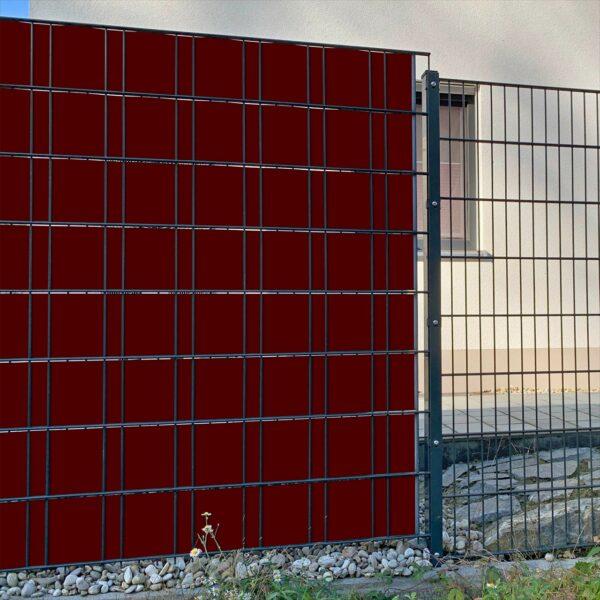 Rotbraun Sichtschutzstreifen myfence Anwendung