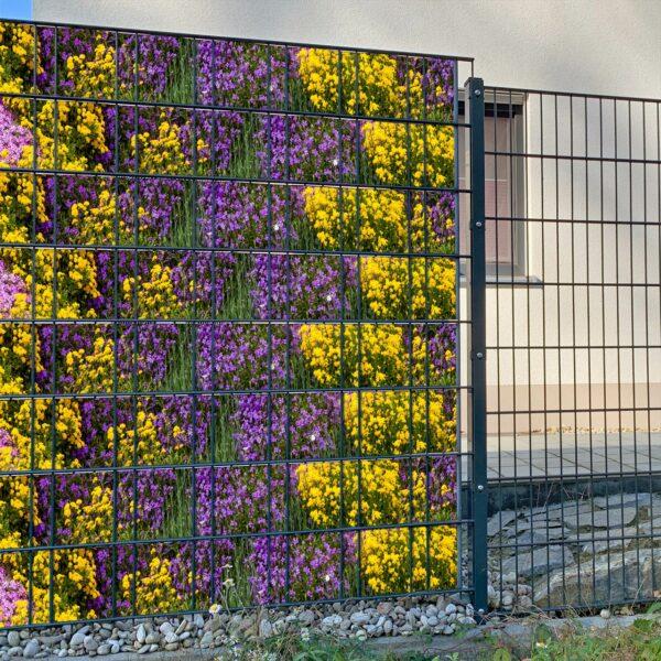 Steingarten Sichtschutzstreifen myfence Anwendung