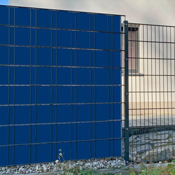 Ultramarinblau Sichtschutzstreifen myfence Anwendung