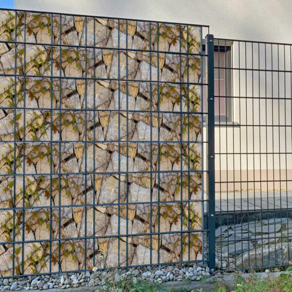 VinoStone Sichtschutzstreifen myfence Anwendung
