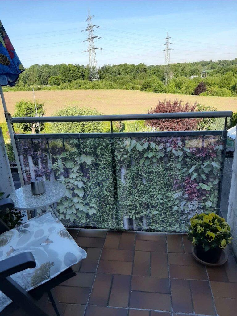 myfence Kundenfoto Sichtschutz an Balkon